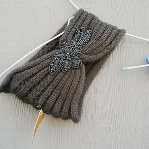 C.C. Headwrap jeweled and gray